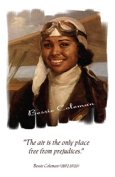 Holiday Coloring Pages » Bessie Coleman Coloring Page - Free ...