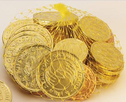 Chocolate Hanukkah Coins For Adults