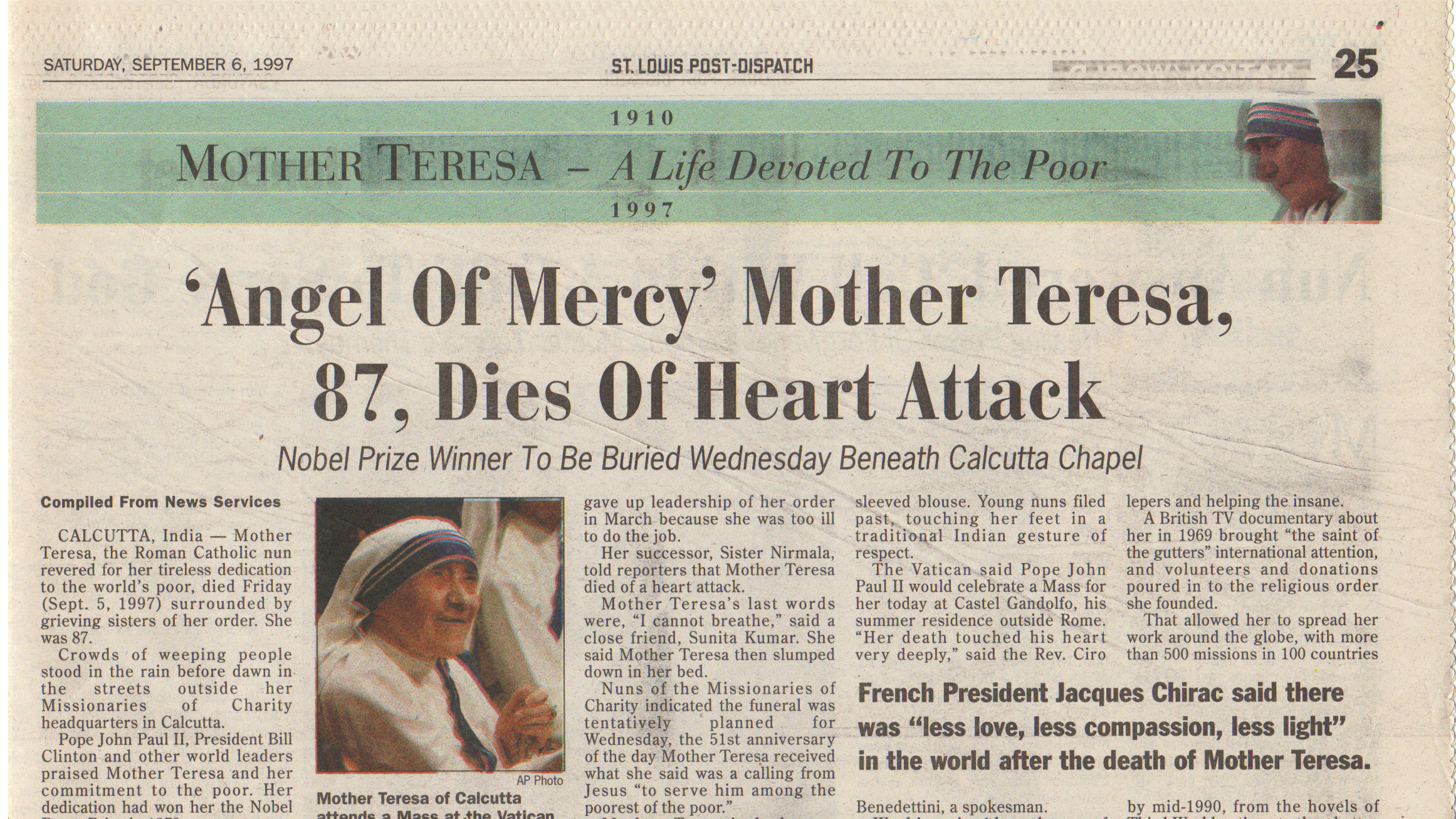 mother teresa angel of mercy essay As with the other works of mercy contemplated by mother teresa  7 insights from mother teresa on being merciful mother teresa teaches let angels be your guide.