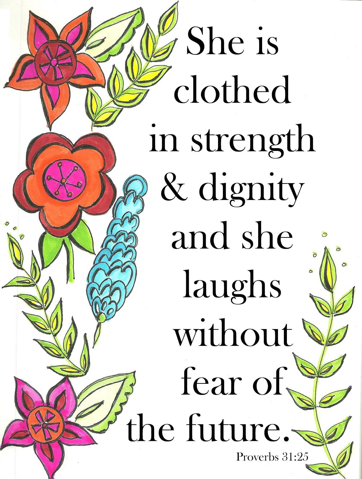 inspirational window strength of a woman