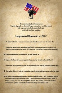 Congressional Reform Act of 2012