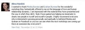 Alma Handzic testimonial fb