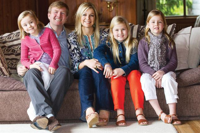 Family photo of the Royalty, married to Willem-Alexander Claus George Ferdinand,  famous for Dutch Royalty.