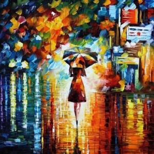 bev dancing in rain