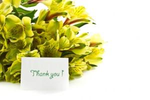 Bouquet of alstroemeria with gratitude