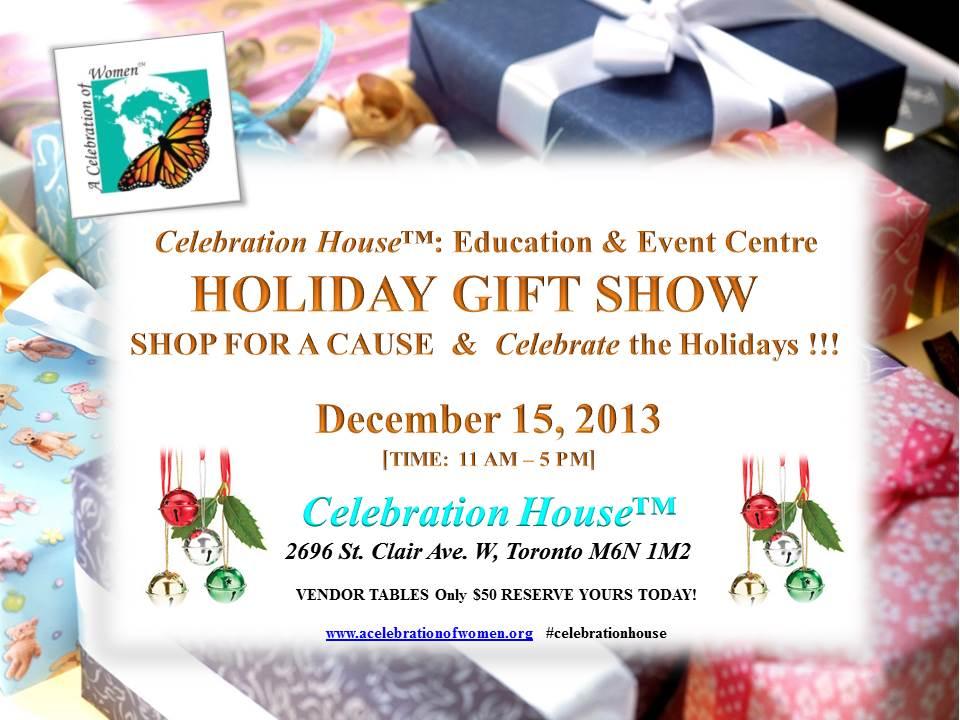 celebration house holiday gift show - dec 15