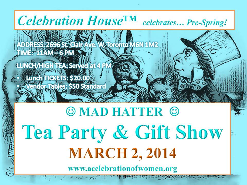 MARCH 2 MAD HATTER TEA PARTY & GIFT SHOW