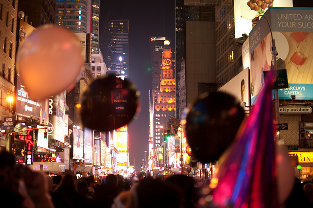 New Year's Balloons in Time's Square