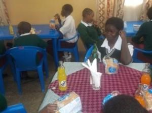 kenya school trip lunch time george