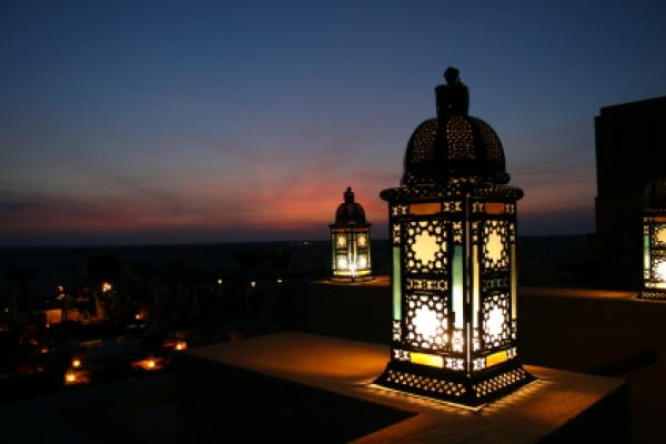 Some Homes Have Lit Lanterns In The Evenings During Month Of Ramadan