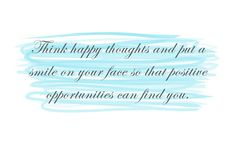 think happy thoughts small