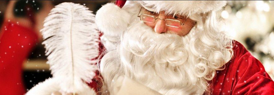 santa with plume