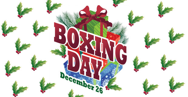 DEC 26 celebrates Boxing Day/St. Stephen's Day Boxing Day