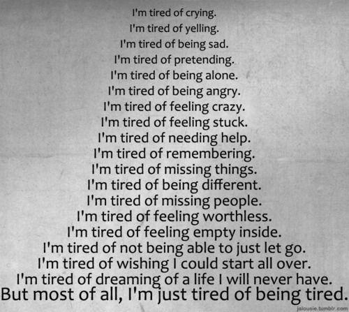 im tired depression