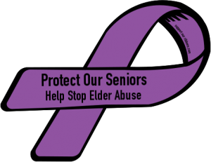 elder abuse ribbon