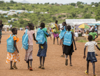Sporting tournament day in Protection of Civilians Site 3 in Juba.  Teams formed from POC residents and NGOs working inside the camp played each other in football and volleyball, with various cultural performances interspersed throughout the day.